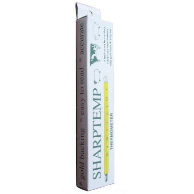 "SHARPTEMP - vet thermometer - Celsius/Fahrenheit - 5"" Skin pack w/ case & clip"