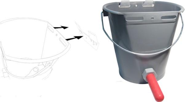 Calf Bucket Tough Blue 10ltr - BU02 - Dairy Spares  |Bucket Calves